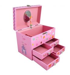trousselier - musical jewellery box fairy & castle