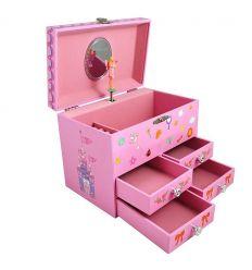 trousselier - portagioie con carillon fairy & castle