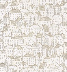 caselio - wallpaper houses maison (gold)