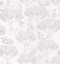 caselio - wallpaper wood biche (silver)