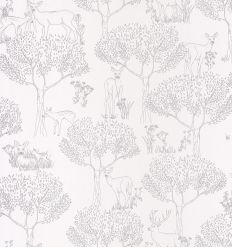 CASELIO wallpaper wood biche (silver)