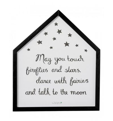 """bloomingville - wood framed house """"may you touch fireflies and stars…"""""""