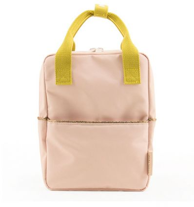 rilla go rilla - backpack small (nude-pink/lime)