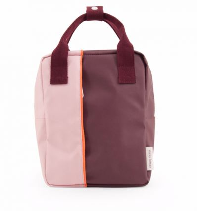 rilla go rilla - backpack small (pink/bordeaux)