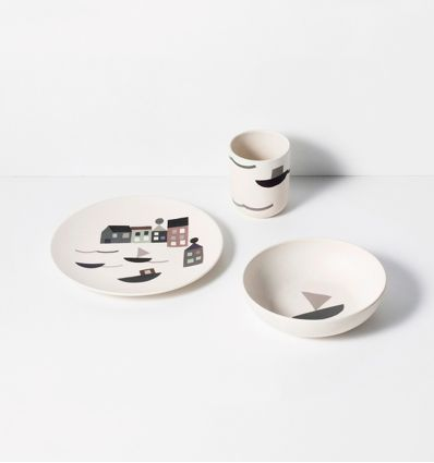 ferm living - set pappa in bamboo seaside