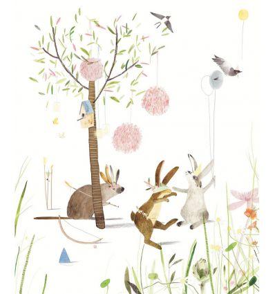 eijffinger - wall print wallpaper party bunnies