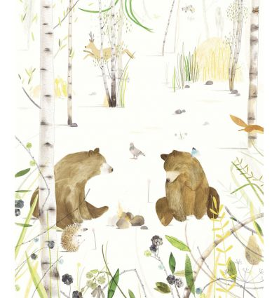 eijffinger - pannello carta da parati orsi