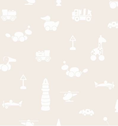 borastapeter - carta da parati giochi brio icons (beige)