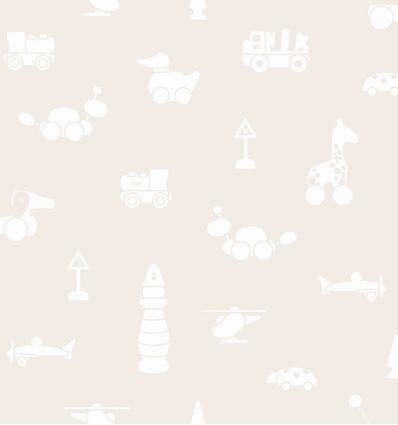 borastapeter - wallpaper toys brio icons (beige)