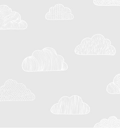 borastapeter - carta da parati nuvole claudia (grigio)