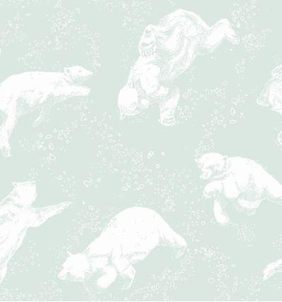 BORASTAPETER carta da parati orsi polarn