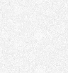 borastapeter - carta da parati uccellini buddy birds (grigio)