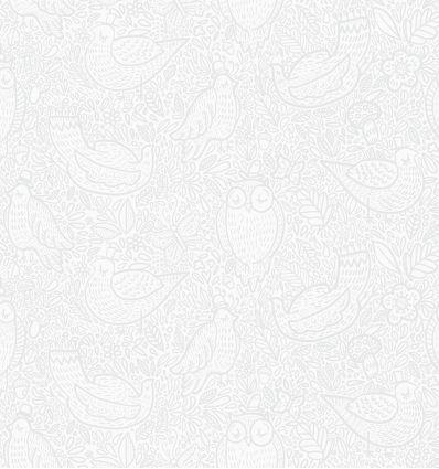 borastapeter - wallpaper buddy birds (grey)
