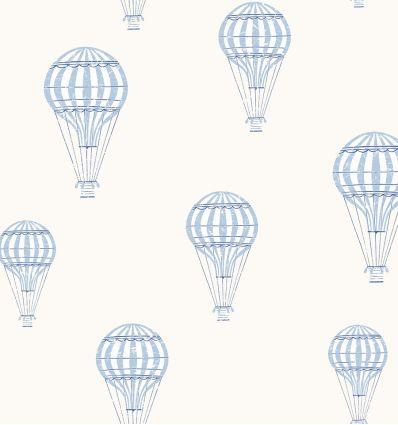 borastapeter - carta da parati mongolfiere andré (azzurro)