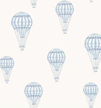 borastapeter - wallpaper balloons andré (light blue)