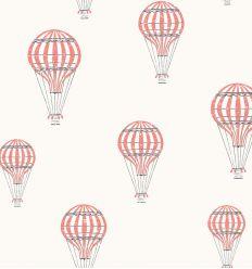 borastapeter - wallpaper balloons andré (red)