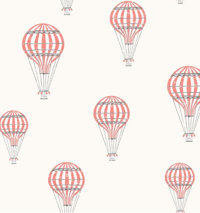 borastapeter - wallpaper balloons andré (red)