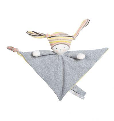 moulin roty - nin-nin the rabbit baby comforter les petits dodos