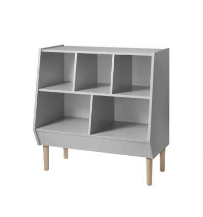 done by deer - storage rack 2 in 1: changing station and Montessori library (white)