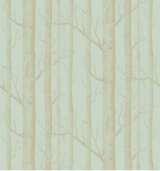 cole & son - wallpaper woods (eau de nil/gold)