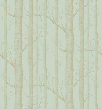 cole & son - wallpaper woods (eau de nil/gold)