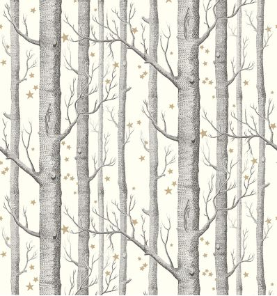 Cole Son Wallpaper Woods Stars Blackwhitegold