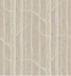 cole & son - wallpaper woods & stars (linen/white/gold)