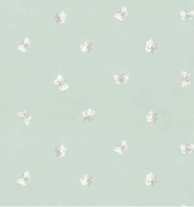 cole & son - wallpaper butterflies peaseblossom (duck egg blue)