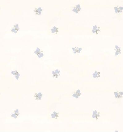 cole & son - carta da parati farfalle peaseblossom (white)
