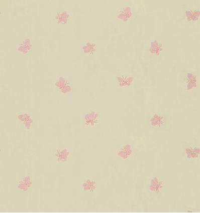cole & son - carta da parati farfalle peaseblossom (linen/pink)