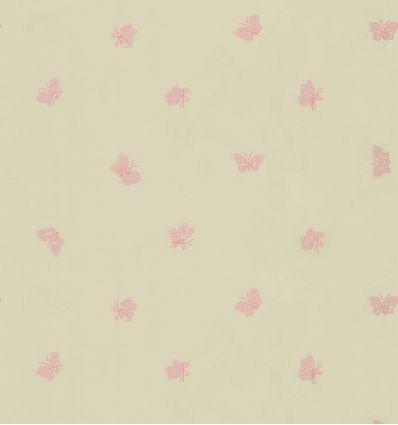 cole & son - wallpaper butterflies peaseblossom (linen/pink)