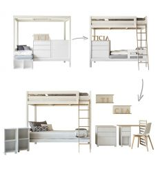complojer - ticia for two letto evolutivo (bianco)