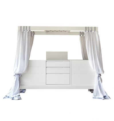complojer - ticia for twins evolutionary bed (white)