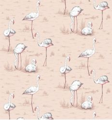 cole & son - wallpaper flamingos (powder pink)