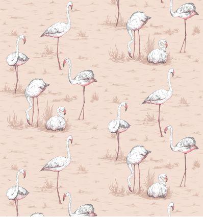 cole & son - wallpaper flamingos (powder pink)