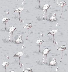 cole & son - wallpaper flamingos (powder blue)