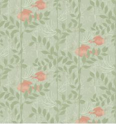 cole & son - wallpaper nautilus (soft olive /pink)