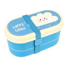 bento box with cutlery happy cloud