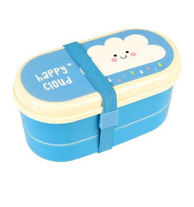 bento box with cutlery happy cloud