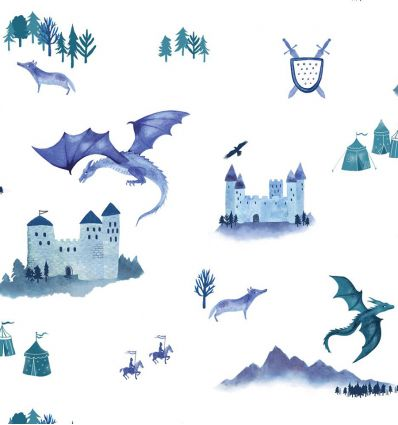 hibou home - carta da parati castles and dragons