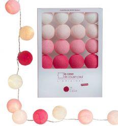 la case de cousin paul - string lights for babies louise (pink)