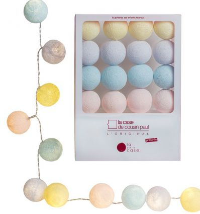 la case de cousin paul - string lights for babies céleste (multicolor)