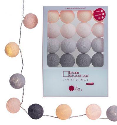 la case de cousin paul - string lights for babies lili (soft pink)