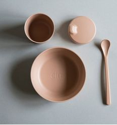 bamboo dinner set rye (soft pink)