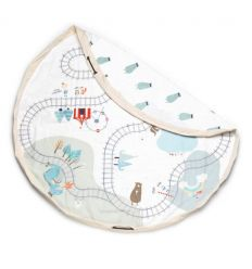 play&go - toy storage bag trainmap/bears