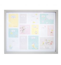 moulin roty - baby's first year photo frame (grey)