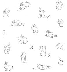 lilipinso - wallpaper bunnies sketches