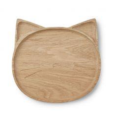 liewood - piatto in legno gatto