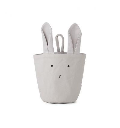 liewood - cesto portaoggetti da appendere coniglio grigio