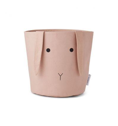 liewood - cesto portagiochi piccolo coniglio rosa